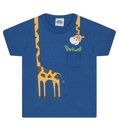 Camiseta Estampada para meninos na cor azul royal
