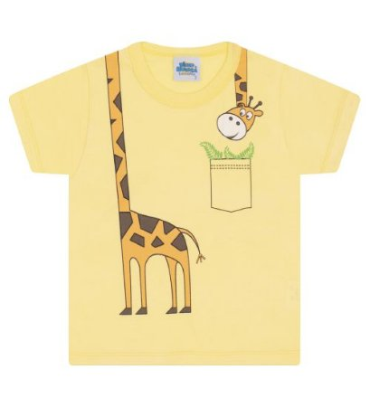 Camiseta Estampada para meninos na cor amarelo
