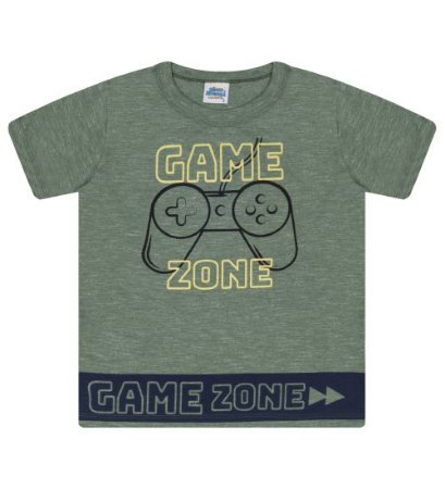 Camiseta Estampada para meninos na cor verde floresta