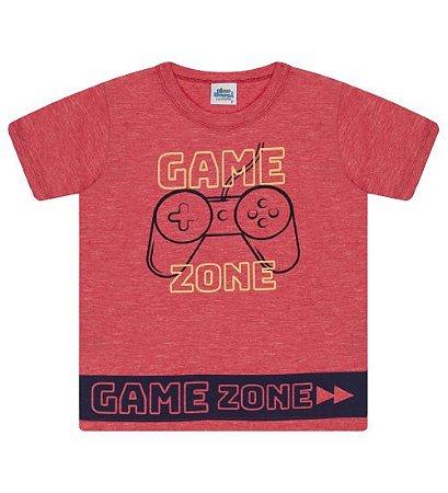 Camiseta Estampada para meninos na cor vermelha