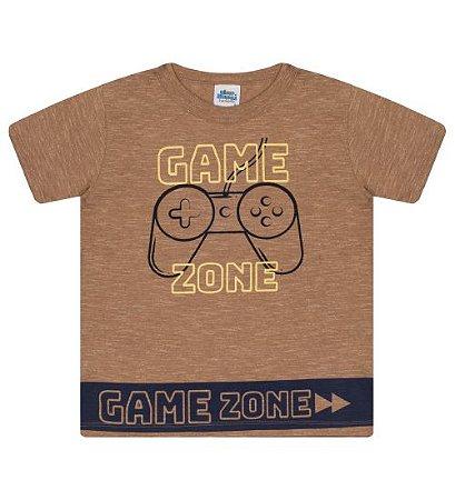 Camiseta Estampada para meninos na cor marrom