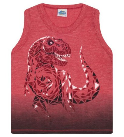 Regata  estampa dinossauro na cor vermelha