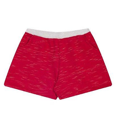 Shorts para meninas na cor vermelha