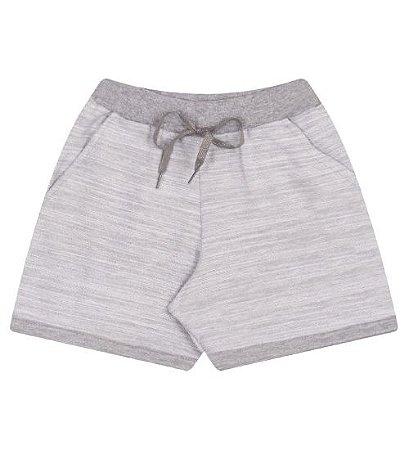 Shorts em moleton leve para meninas na cor cinza mescla