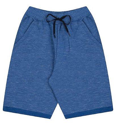 Bermuda em moleton para meninos na cor azul clássico