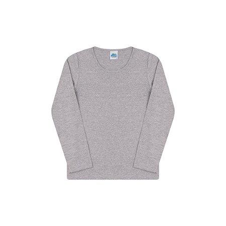 Blusa em cotton sem estampa cor mescla