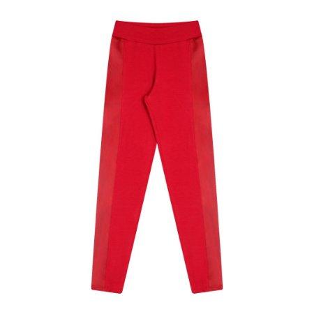 Legging em cotton com detalhe cirrê na lateral cor escarlate vermelho