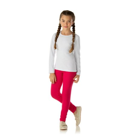 Legging em cotton cor pink
