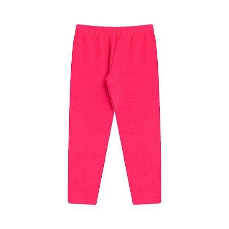 Calça legging em molecotton na cor pink