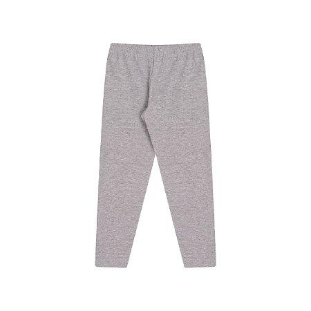 Calça legging mescla em cotton com elástico no cós