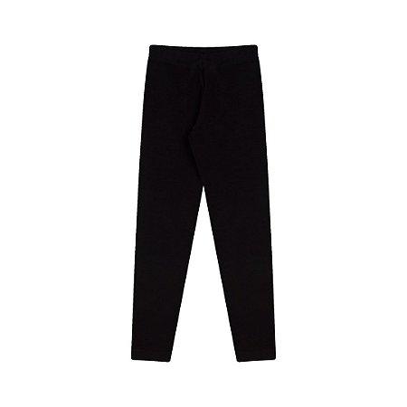 Calça legging em cotton com elastico no cós cor preto