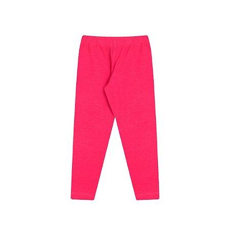 Calça legging pink em cotton com elástico no cós