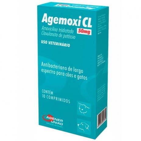 Antibiótico Agener União Agemoxi CL 10 comprimidos 50mg