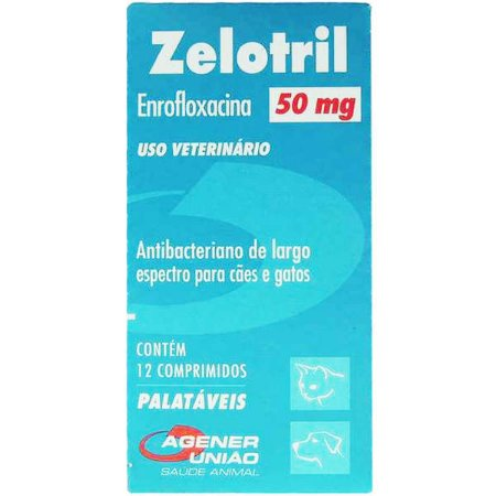Antibacteriano Agener União Zelotril 12 comprimidos