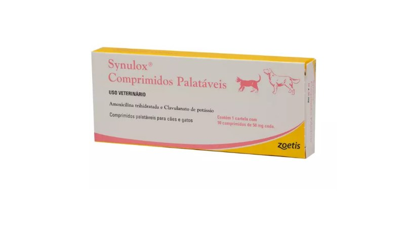 Antibiótico Zoetis Synulox 10 Comprimidos 50mg
