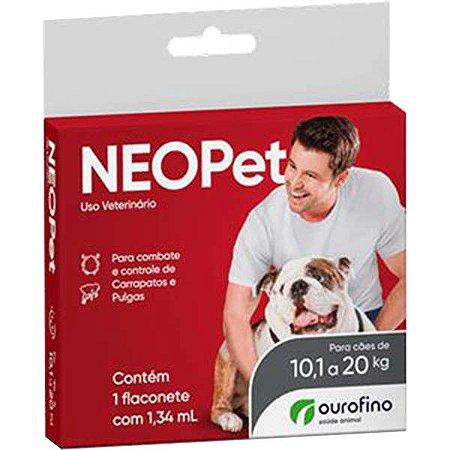 Antipulgas e Carrapatos Ourofino Neopet 1,34 mL para Cães de 10,1 até 20 Kg
