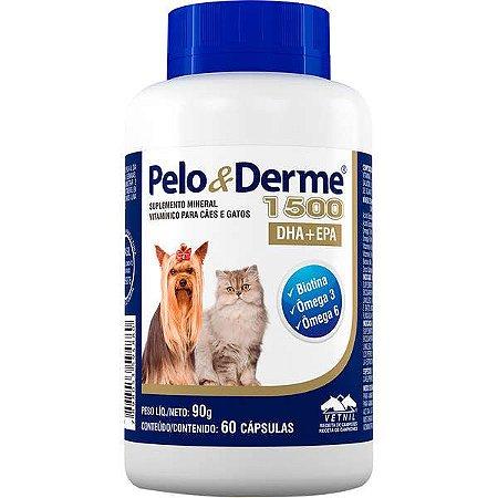 Suplemento Vetnil Pelo & Derme DHA + EPA 1500 C/60 Cápsulas