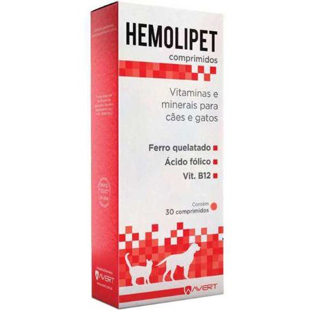 Suplemento Vitamínico Avert Hemolipet - 30 Comprimidos