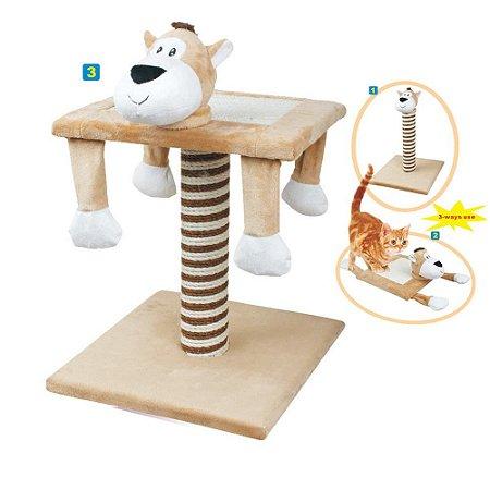 Brinquedo Arranhador de Gato 3 em 1 - Chalesco