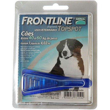 Antipulgas E Carrapatos Frontline Topspot Cães De 40 A 60 Kg