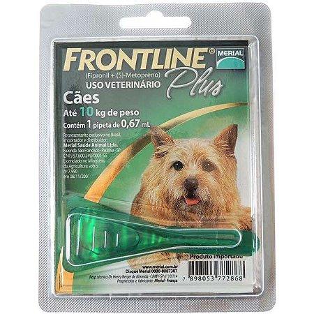 Antipulgas E Carrapatos Frontline Plus Cães De 1 A 10 Kg