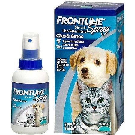 Antipulgas E Carrapatos  Frontline Spray Cães &Gatos 100ml