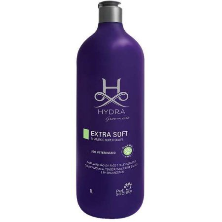 Shampoo Pet Society Cães Gatos Hydra Groomers Extra Soft 1l