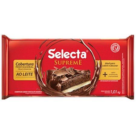 Cobertura Sabor Chocolate ao Leite Supreme Barra - 1,01kg SELECTA