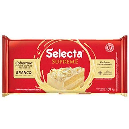 Cobertura Sabor Chocolate Branco Supreme Barra - 1,01kg SELECTA