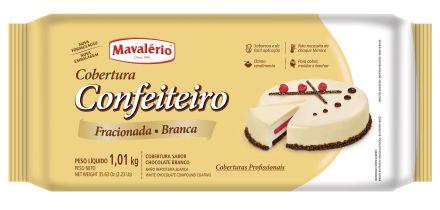 COBERTURA CONFEITEIRO SABOR CHOCOLATE BRANCO 1,01KG MAVALÉRIO