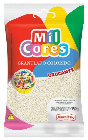 GRANULADO CROCANTE BRANCO MIL CORES 150G MAVALERIO
