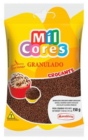 GRANULADO CROCANTE SABOR CHOCOLATE 150G MAVALERIO