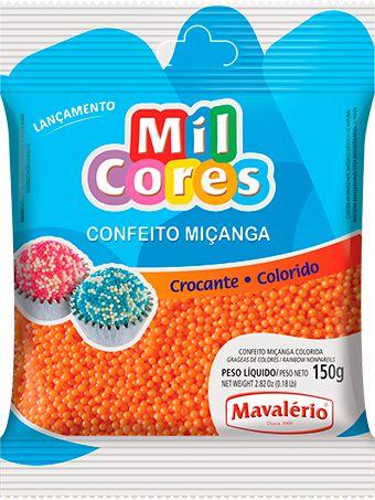 CONFEITO MIÇANGA LARANJA Nº 0 MIL CORES 150G MAVALERIO