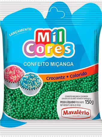 CONFEITO MIÇANGA VERDE Nº 0 MIL CORES 150G MAVALERIO
