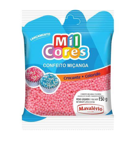 CONFEITO MIÇANGA BABY ROSA Nº 0 MIL CORES 150G MAVALERIO