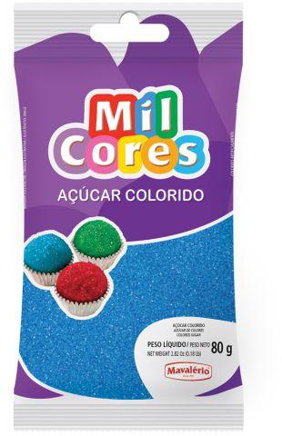 AÇÚCAR COLORIDO AZUL MIL CORES 80G MAVALERIO