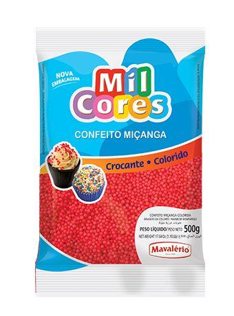 CONFEITO MIÇANGA VERMELHO Nº 0 MIL CORES 500G MAVALERIO
