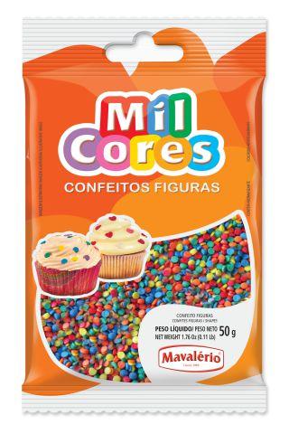 CONFEITO FIGURA MINICONFETE MIL CORES 50G MAVALÉRIO