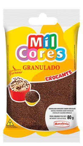 GRANULADO CROCANTE SABOR CHOCOLATE MIL CORES