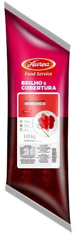 BRILHO E COBERTURA MORANGO 1,01KG AUREA