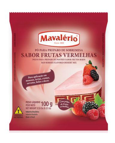 PO PARA PREPARO DE SOBREMESA SABOR FRUTAS VER 100G