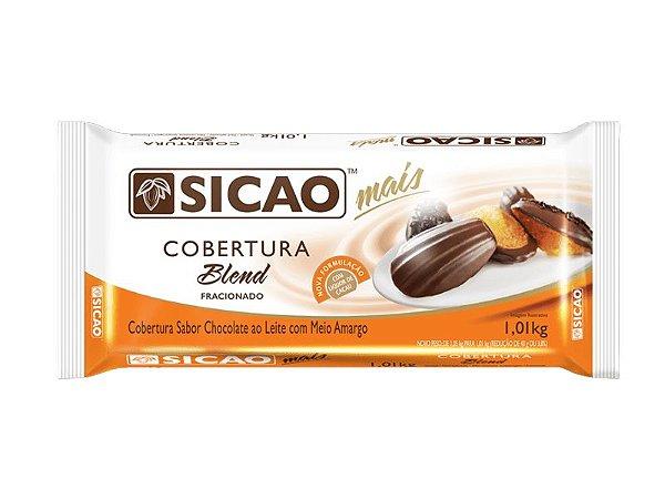 COBERTURA CHOCOLATE AO LEITE C/ MEIO AMARGO BLEND 1,01KG SICAO
