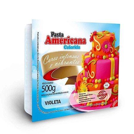PASTA AMERICANA COLORIDA VIOLETA LILÁS 500G ARCOLOR