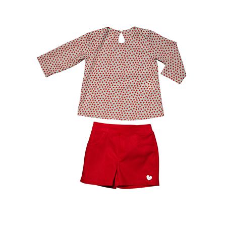 Conjunto Blusa e Shorts