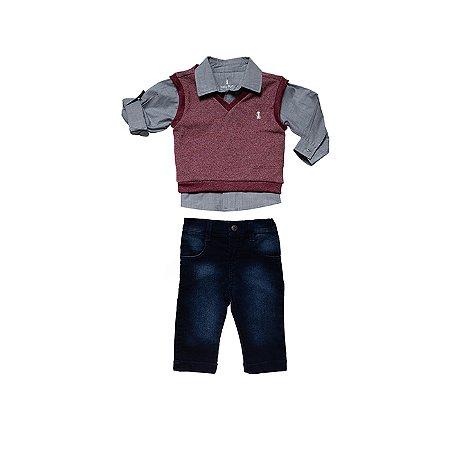 Conjunto Camisa e Calça e Colete