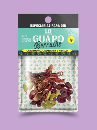 Lo Guapo Borracho - Cardamomo, Cramberry e Hibisco 7g