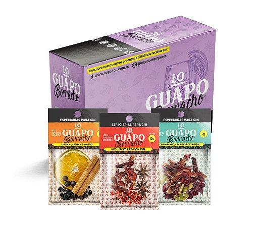 Kit Especiarias para Gin Lo Guapo - 3 Sabores