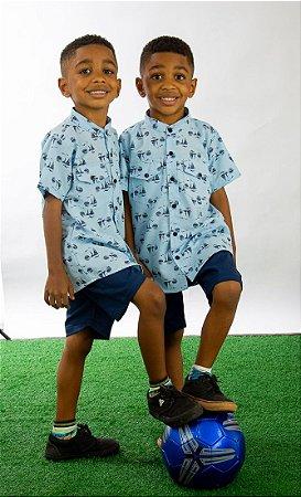 Conjunto Masculino bermuda e camisa Téo Pump