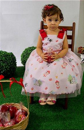 Vestido Infantil Isabela Pump Temático Chapeuzinho Vermelho