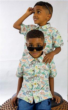 Conjunto Masculino bermuda e camisa safari Thomás